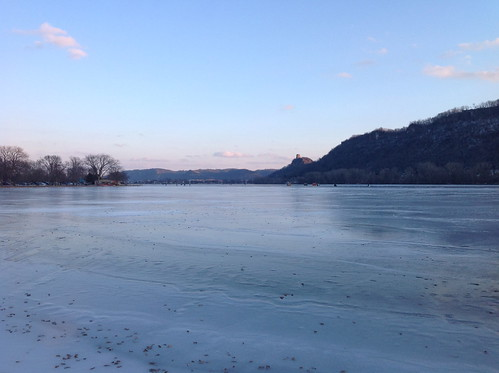 Lake Winona, frozen over