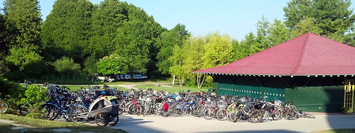 bikes on Mackinac Island
