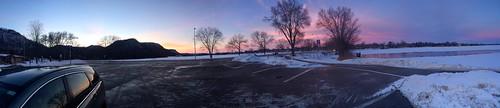 Panorama of frozen Lake Winona