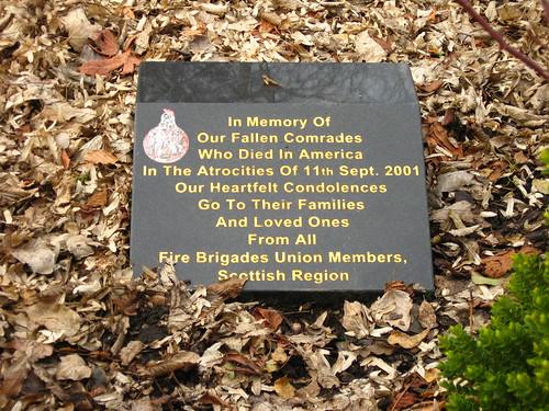 Scottish 9/11 plaque