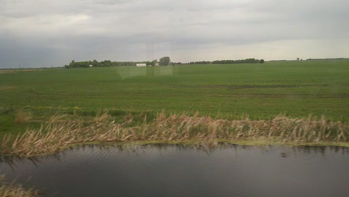 from the train #8 (west of Des Lacs)