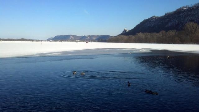 open water in lake