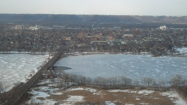 melting lake as seen from Garvin Heights