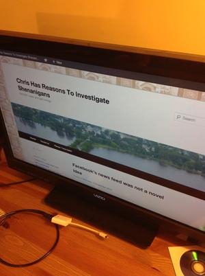 Chromecast plugs into your TV