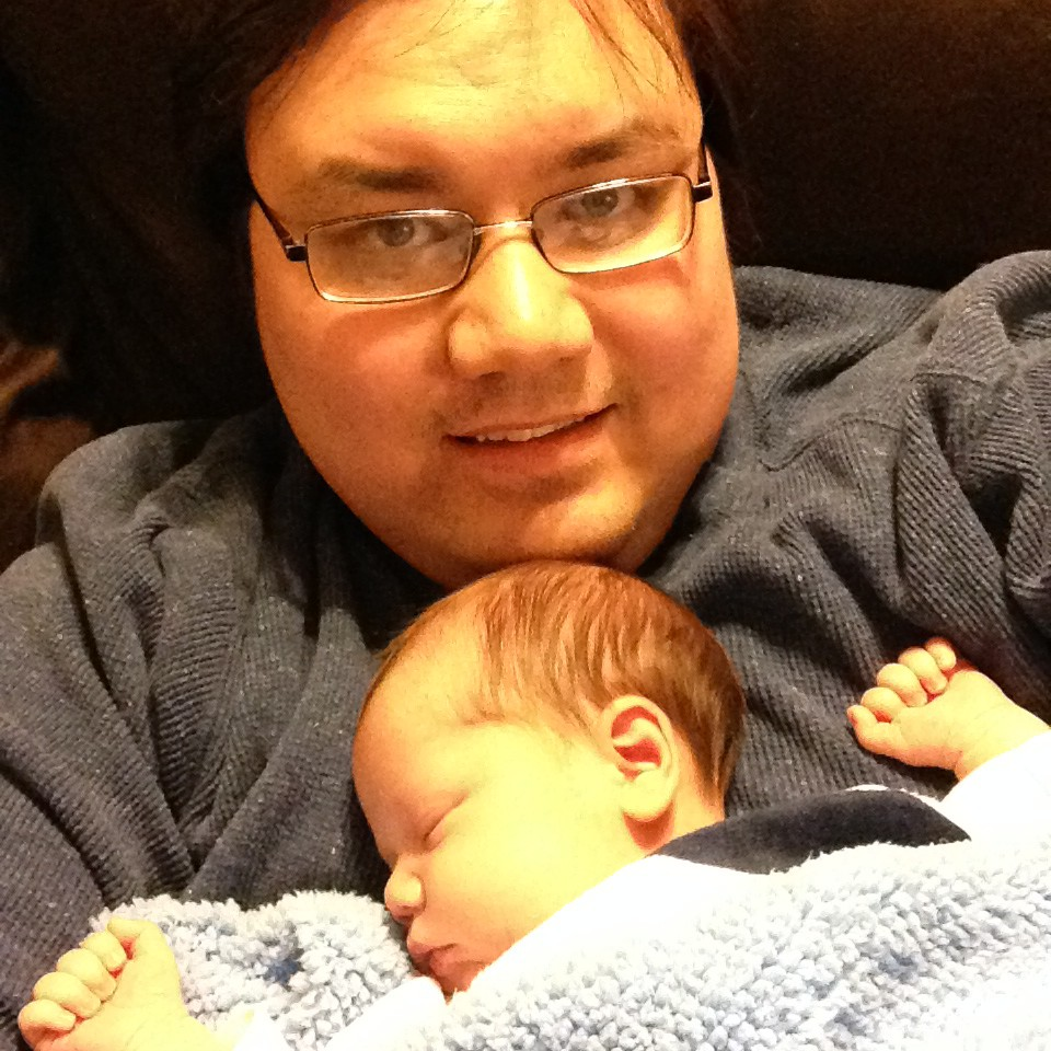 Picture of me with baby Max